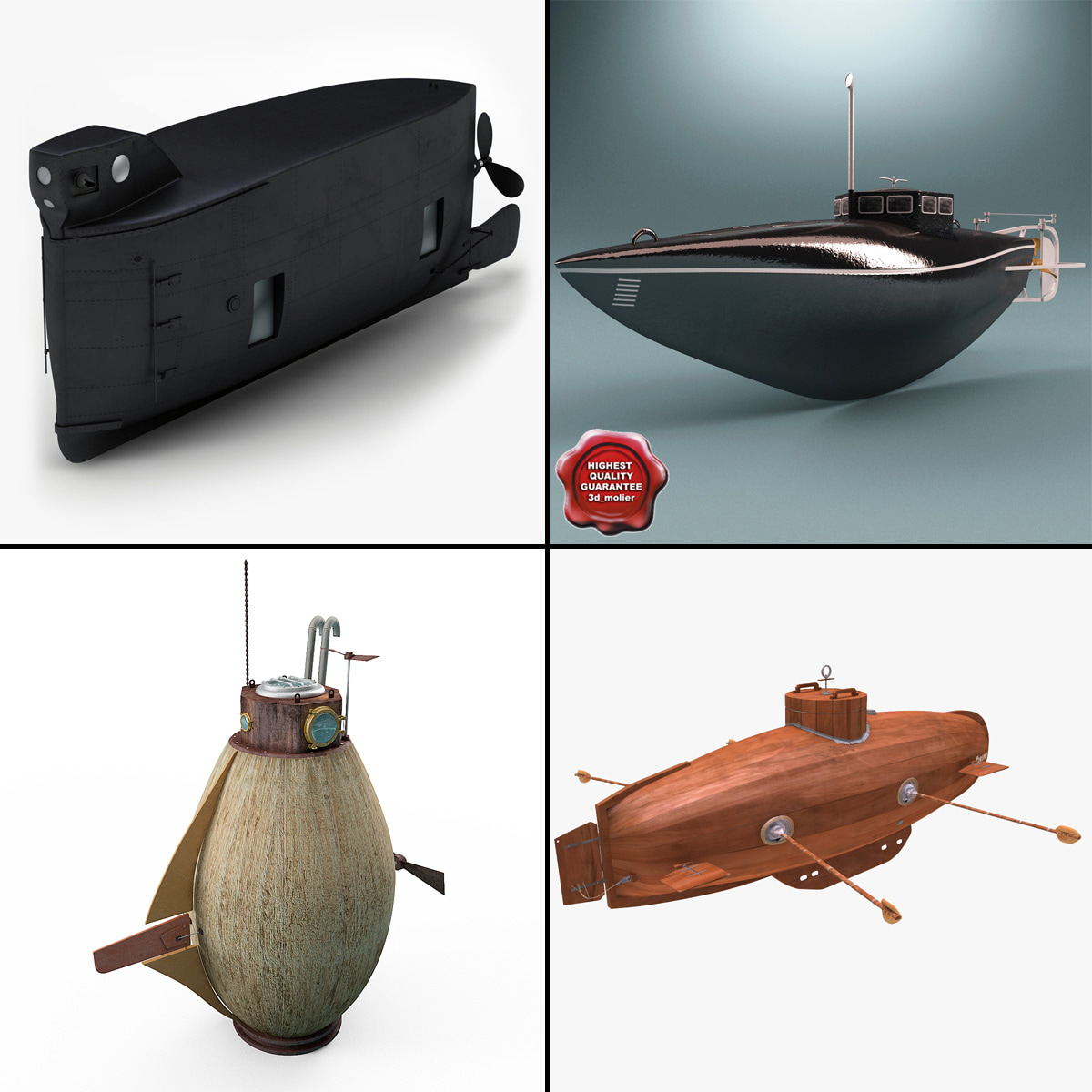 old submarines 3ds