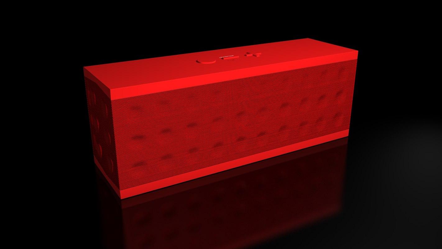 3d model of jambox speaker jawbone