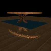 free c4d model poker table