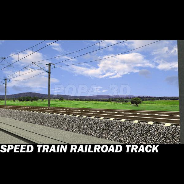 3d model railroad track