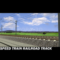 Speed Train Railroad track
