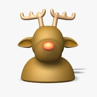 reindeer rudolf statue figure max