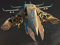 3d model spacecraft aircraft