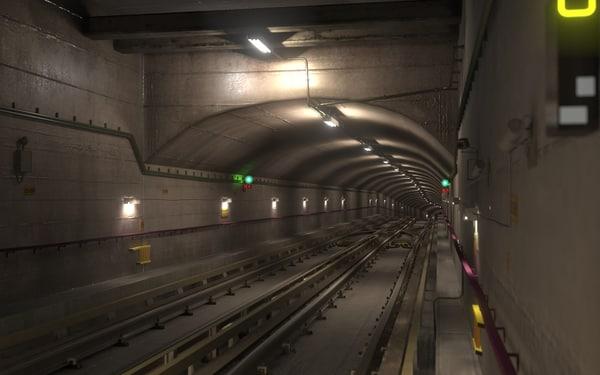3dsmax underground tunnel