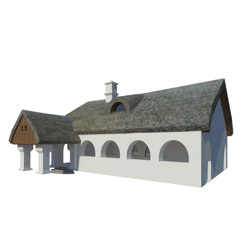 3d thatched farmhouse