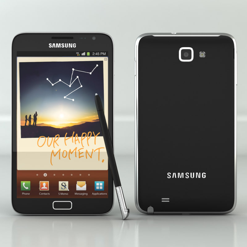 3d samsung galaxy note model