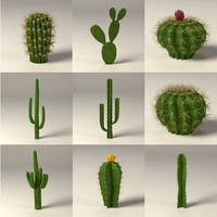 cactuses 3d 3ds