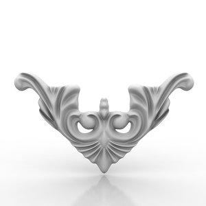 3d model architectural element arch