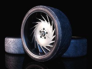 dub wheel 3d model