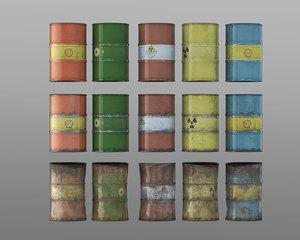 3dsmax contains 15 barrel