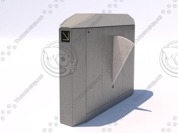 3d retractable barrier