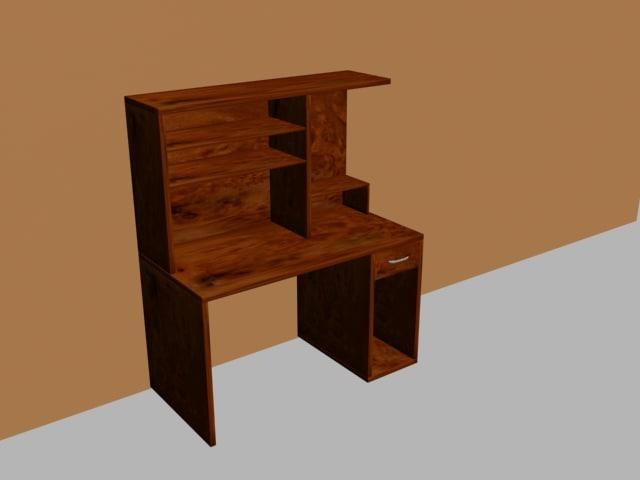 3d model computer table