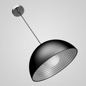 3d max black hanging lamp 03