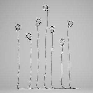 3d model decorative wall lamp set