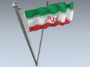Iran flag 3D models