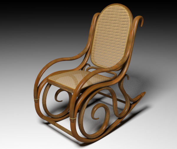 rocking chair 3d obj