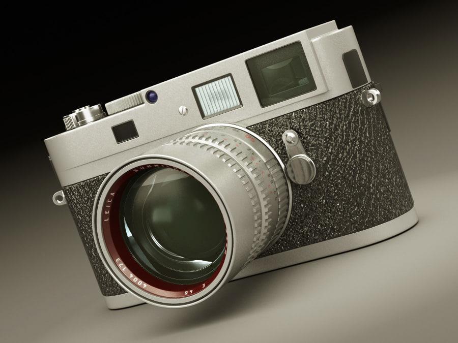 leica m9-p camera lens 3ds