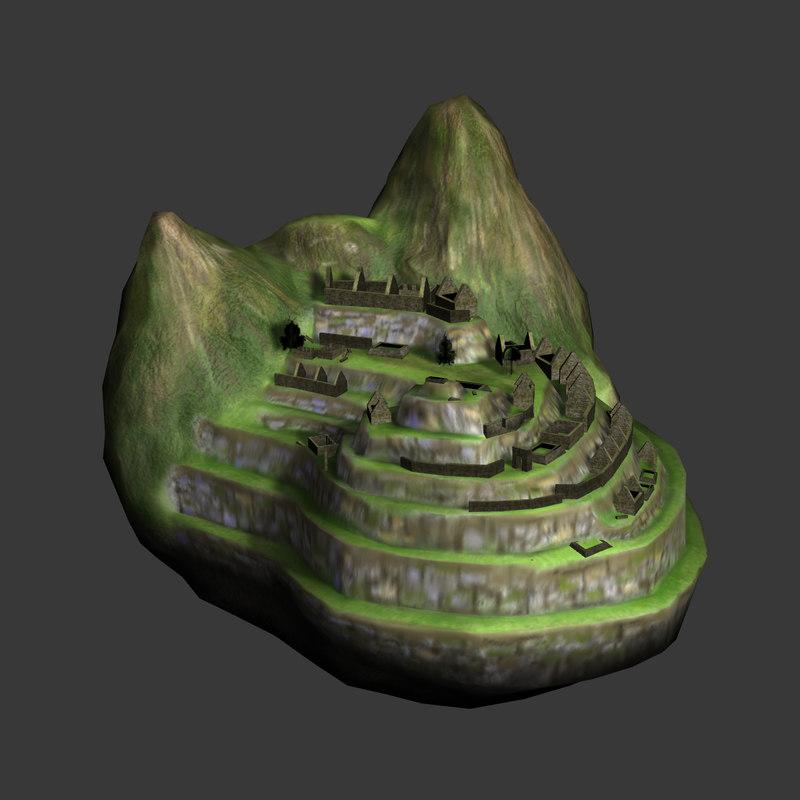 3d model machu picchu