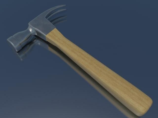3d hammer metal wood