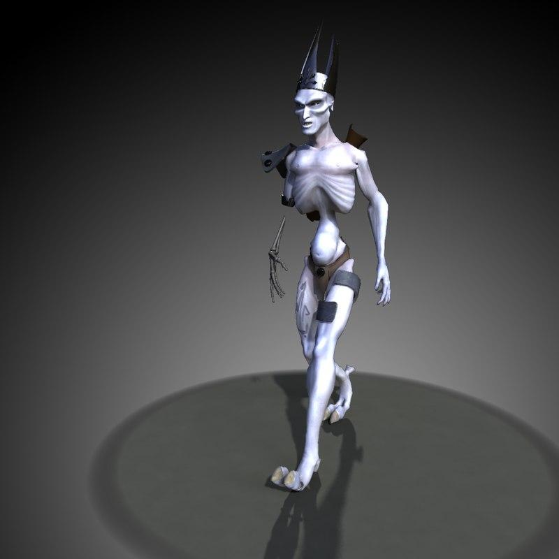 rigged mesefus monster 3d model