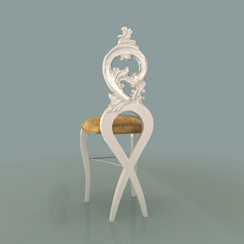 barstool bar stool 3d max