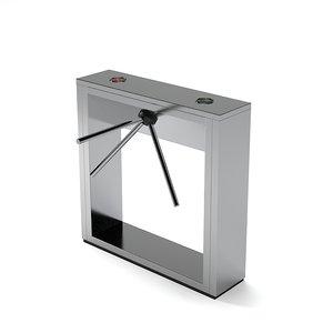 guard entrance control 3d model