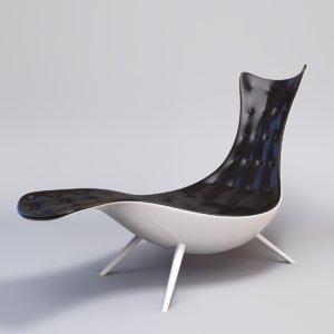 3d organic lounge chair