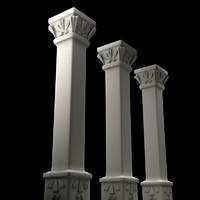 3d model deco column