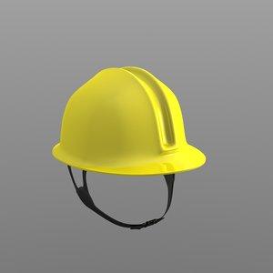 3ds max yellow construction helmet
