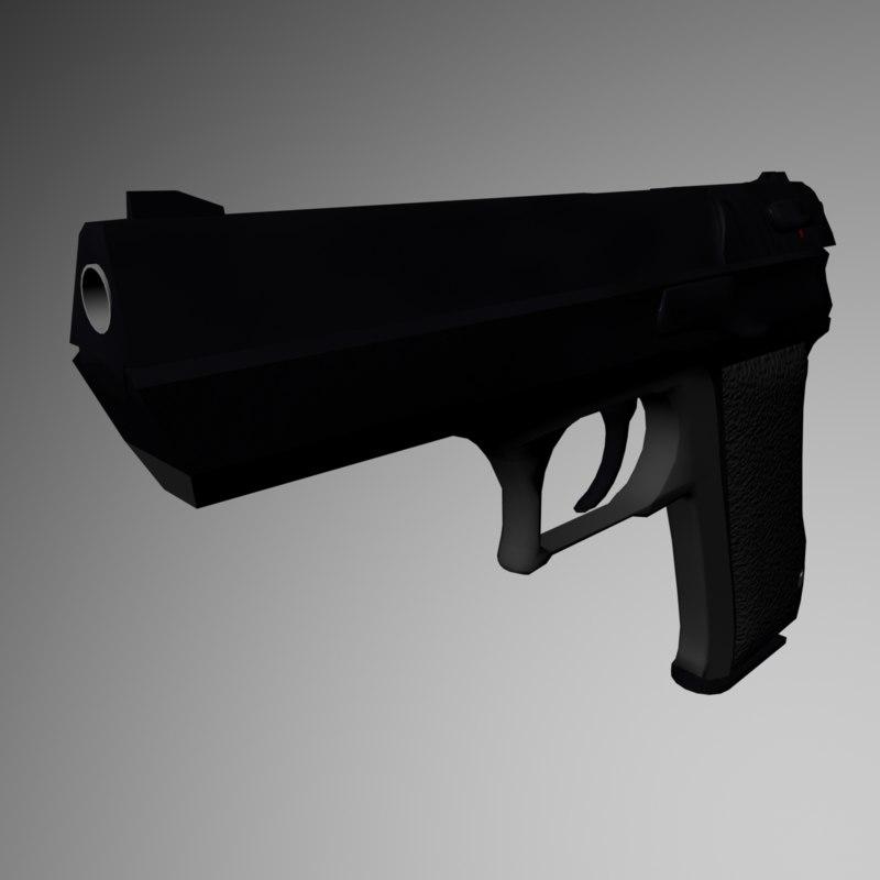 9mm pistol 3d ma