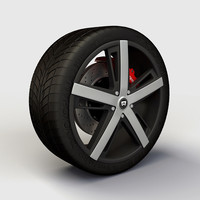 Wheel Montegi MR109 rim and tire