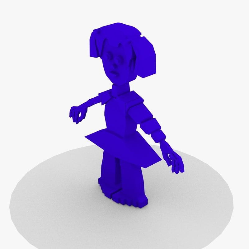 free blend mode robot girl