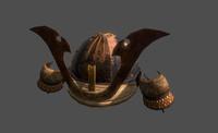 3d samurai helmet