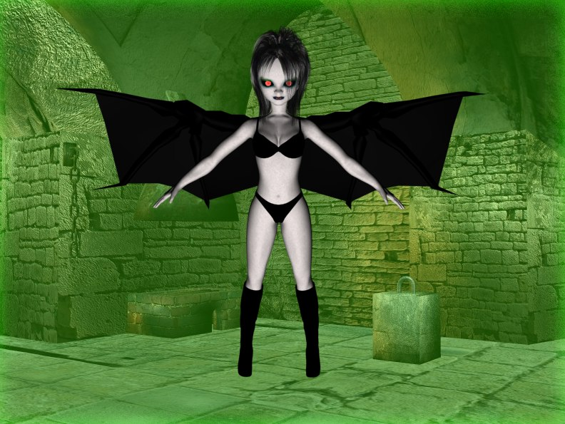 3d succubus female girl model