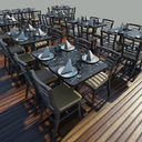 Table - Chairs - Setting
