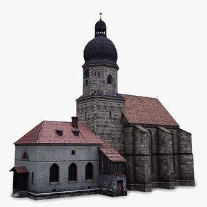 3ds max church chapel
