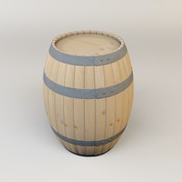 3d model of wine barrel