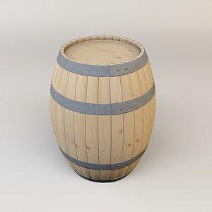 3d model of wine barrel