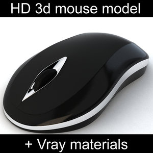 wireless computer mouse materials 3d max