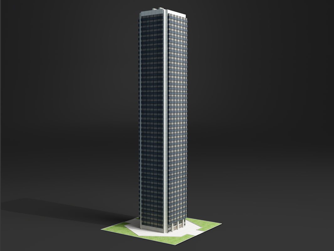 3ds max skyscraper office