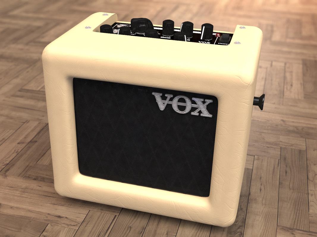 3d vox mini 3 model. Black Bedroom Furniture Sets. Home Design Ideas