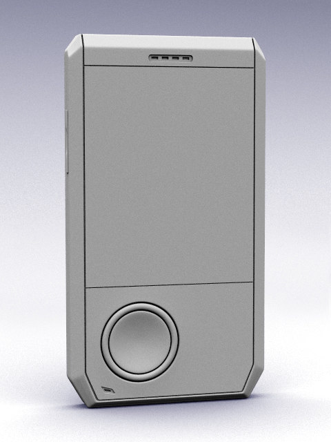 design mobile phone 3d model