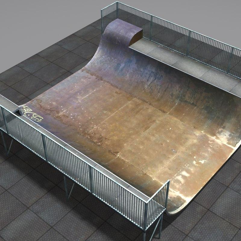 3d skateboard ramp coz111102