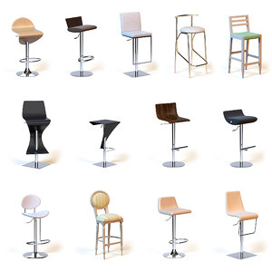 photorealistic bar chairs 3d max
