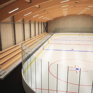 3d model training ice hockey hall