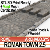 ancient roman town roads 3d 3ds