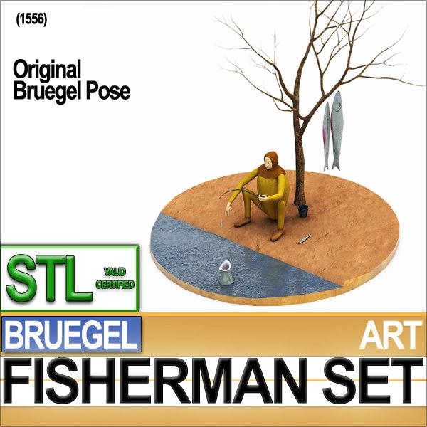 3d reconstruction fisherman bruegel fish model