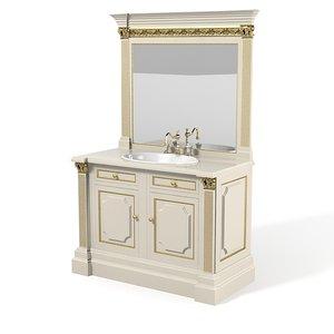 3d model of bathroom furniture set