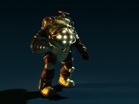 Big Daddy Video Game Character Walking Animation
