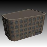 victorian warehouse factory building 3d model